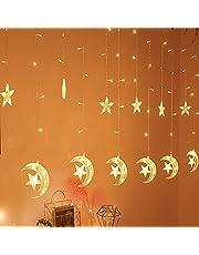 JLHBM-P أضواء سلسلة للستائر، إضاءة LED مضادة للماء، مصابيح معلقة للزينة، مناسبة للحفلات، المنزل، ديكورات الفناء العشبي JLHBM-P (اللون : نموذج القابس الأبيض)