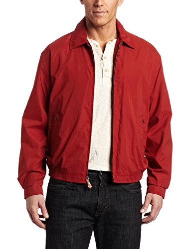 London Fog Men's Auburn Zip-Front Golf Jacket (Regular & Big-Tall Sizes), Chili, Small -