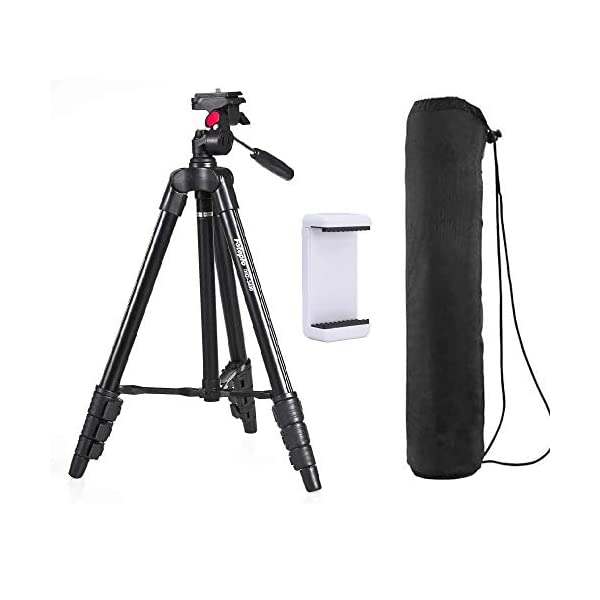 RetinaPix Fotopro DIGI-3400 4 ft Payload 2kgs Compact Tripod Ball Head for DSLR, Video Camera & Camcorder Adjustable Tripod Stand with Mobile Holder, Black