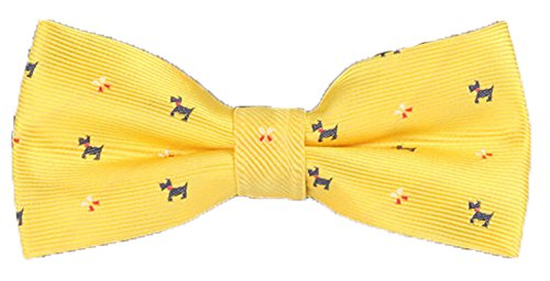 Flairs New York Animal Lovers' Collection Little Bow Tie (Daisy Yellow / Yellow [Airedale Terrier]) (Gold Airedale Dog)