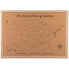 Corkboard Map Of US With Outline Of States Size M Measures X - Corkboard us map