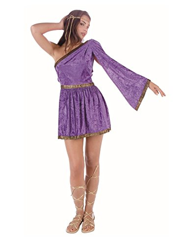 [Women Medium (5-7) Purple Roman Toga ONLY - Sandals and headpiece not included. (Looks Blue in] (Adult Nativity Costumes)