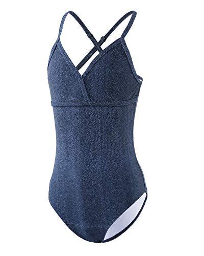 HowJoJo Girls One Piece Swimsuits Beach Sport Swimwear Bathing Suits Blue 7T