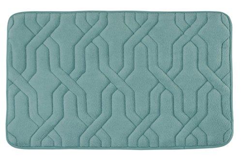 Bounce Comfort Extra Thick Memory Foam Bath Mat - Drona Premium Micro Plush Mat with BounceComfort Technology, 17 x 24 in. Marine Blue -  YMF Carpets, Inc., YMB002149