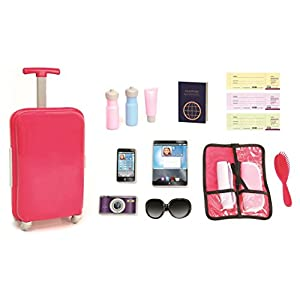 18 inch Doll Travel set including Carry on Luggage with Ticket Passport & 14 accessories. - 4173m4hVjBL - 18 inch Doll Travel set including Carry on Luggage with Ticket Passport & 14 accessories.