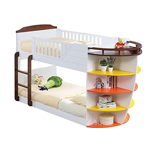 Boat Shaped Bunk Beds with Shelves