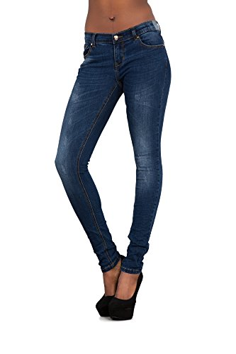 Jeans Donna Ripped Up Turn Navy Lustychic Hem 8vOqZww