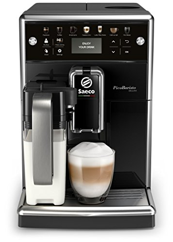 Philips Saeco PicoBaristo SM5460/10 – Cafetera Súper Automática, 11 Bebidas de Café Personalizables, Jarra de Leche…