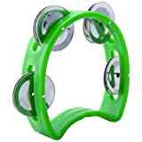 D'Luca TW-4GR 4-Inch Child's Tambourine, Green