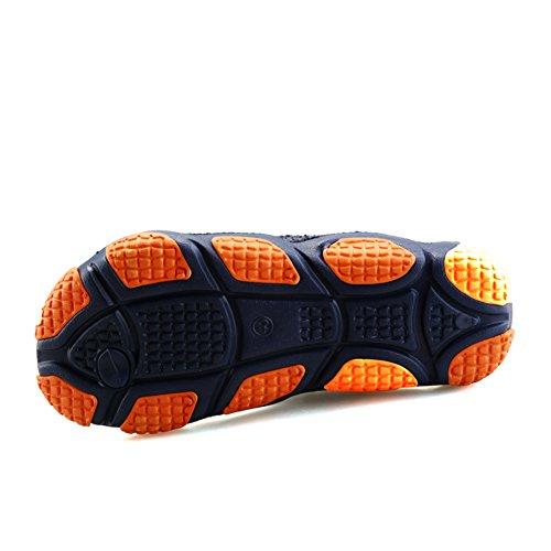 SGoodshoes Chanclas para Sandalias de goma para hombre piscina naranja