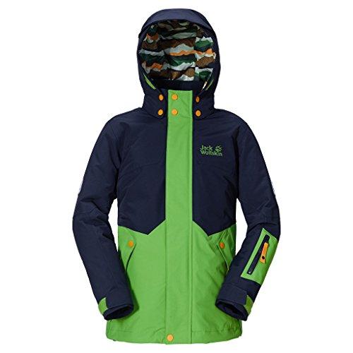 new product a107a e279d Jack Wolfskin Kids BIG White SKI Jacket - Elemental Green ...