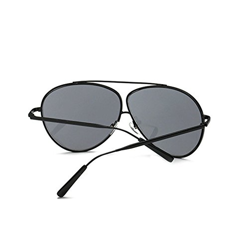 Aoligei Lunettes de soleil fashion Double armature de grandes lunettes de soleil lunettes mâle et femelle shing marée en métal HaQXuH