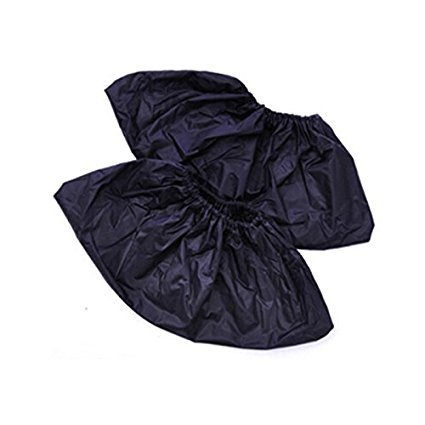Bonanic Reusable Shoe Covers-Waterproof-Wearproof-Dustproof-Mudproof Durable,Thick Material-One Size Fits All Up to XL,Black(10 pairs)
