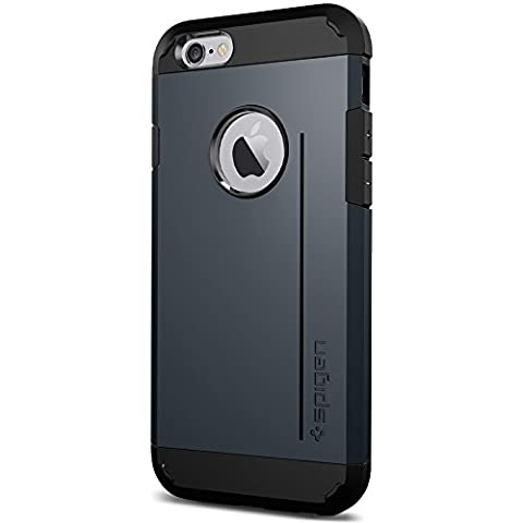 Spigen Tough Armor S iPhone 6 Case with Extreme Heavy Duty Protection and Card Kickstand Feature for iPhone 6S / iPhone 6 - S Metal (Iphone 6 Case With Metal)