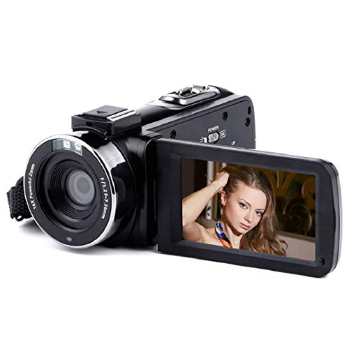 Video Camcorders,OKEUS HD 1080P 24.0MP 3.0 Inch LCD 270 Degrees Rotatable Screen 16X Digital Zoom Camera Recorder with Infrared Light and Remote Control by OKEUS
