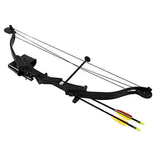 25-lb-black-archery-hunting-compound-bow-quiver-armguard-finger-tab-2-26-arrows-bolts-75-55-40-30-lb