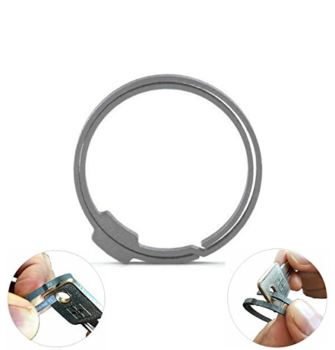 BANG+TI+Titanium+Labor-saving+1.61%22+Durable+Keyring+%28Large%2C+Model%3A+K3%29