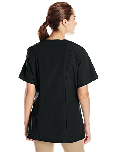 Red Kap Women's Easy Wear Tunic with Open Placket, Black, 4X-Large
