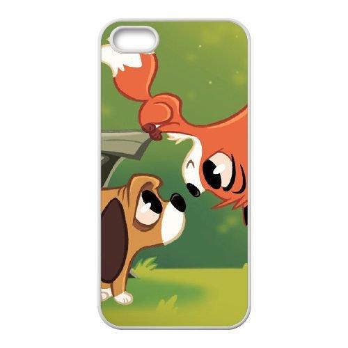 Fox And The Hound 005 coque iPhone 4 4S Housse Blanc téléphone portable couverture de cas coque EOKXLLNCD09326
