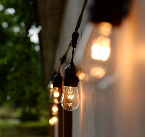 Pack of 20pcs 11 Watt S14 Warm Replacement Glass Bulbs - E26 Medium Candelabra Screw Base Light Bubs for Commercial Grade Outdoor Patio Vintage String Lights 16-Gauge Wiring by Brightown (Image #3)