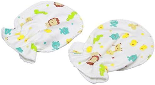 Soft Cotton 5 Pairs Cute Cartoon 0-6 Months Newborn Baby Infant Anti Catch Scratch Gloves Mittens Random