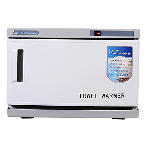 16L Capacity Hot Ultraviolet Sterilizer Electric Towel Warmer Heater Cabinet Spa Beauty Salon Equipment Built-inUVlamp Commercial Or Family Use RemovableTowelRack Heats Up To 175°F