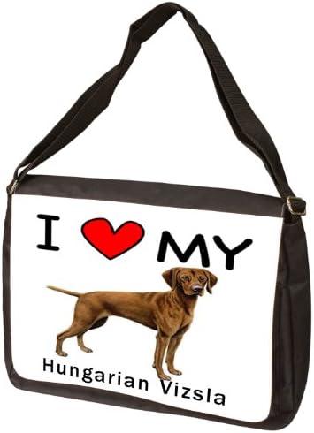 I Love My Hungarian Vizsla Laptop Bag – Shoulder Bag – Messenger Bag