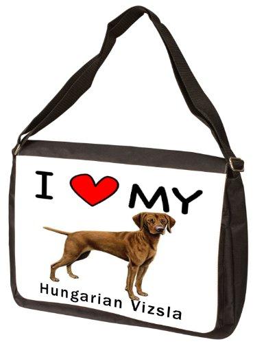 I Love My Hungarian Vizsla Laptop Bag - Shoulder Bag - Messenger Bag by MyHeritageWear.com (Image #2)