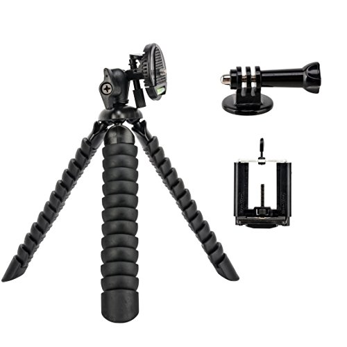 Tairoad 12 Inch Bendable Flexible Tripod with Free Smartphone and Gopro Mount Adapter by TAIROAD