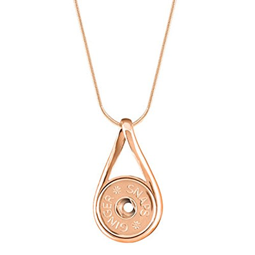 Silver Rose Snap (Ginger Snaps Rose Gold Infinity Necklace SN95-39 (Standard Size) Interchangeable Jewelry)