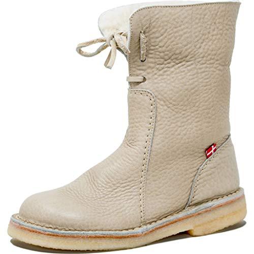 d5f990d1491234 Duckfeet Arhus Wool-Lined Pebbled Leather Boot (Pebbled Nude