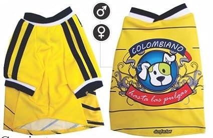 Colombia DOG T-Shirt camisetas para perros Colombiano Hasta las Pulgas (XXS)