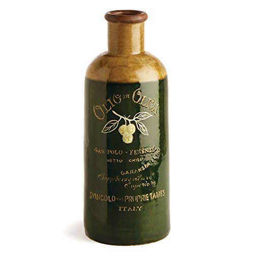 Napa Home & Garden Reproduction Antique Olive Oil Bottle, Green from Napa Home & Garden