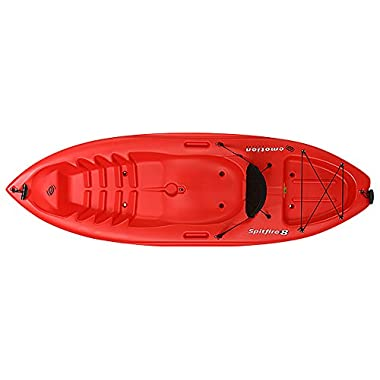 Emotion Spitfire Sit on Top Kayak, 8 Feet, Red