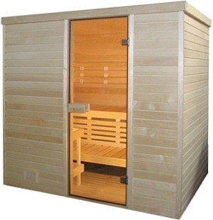 Sauna finlandese in abete nordico 120X180x205h cm - Anche per uso professionale, finiture LUXURY: ISOLAMENTO RINFORZATO: BASTANO 3kW di potenza VB Italia