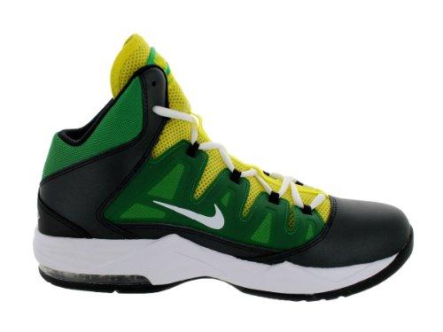 ... Nike Air Max Mens Balbettare Passo Scarpa Da Basket Nero / Bianco /  Appl Grn /