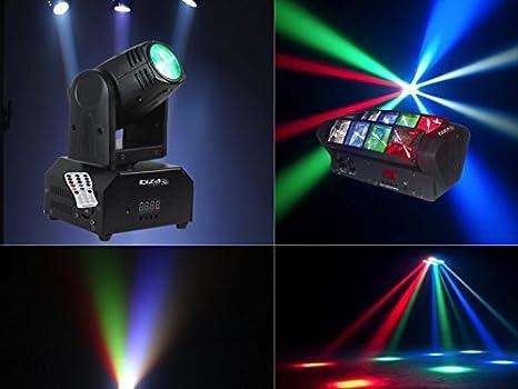 Pack DJ Light Lira LED proyector Beam LED CREE potente 10 W 4-en-1 4