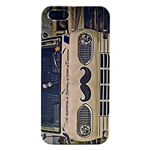 LZXHeadstock Goatee Pattern Plastic Back Cover for iPhone 5/5S