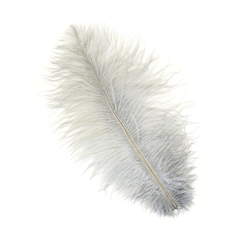 Feather Silver Pens (Zucker Feather (TM) - Ostrich Feathers-Drabs Selected - Silver)