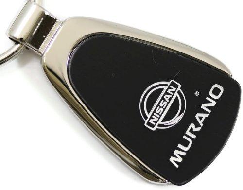 Nissan Murano Black Teardrop Key Fob Authentic Logo Key Chain Key Ring Keychain (Murano Keychain)
