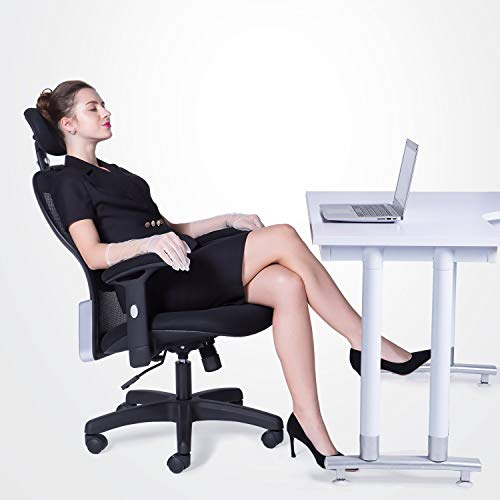 LIANFENG Ergonomic Office Chair, High Back Executive Swivel Computer Desk Chair with Adjustable Armrests and Headrest, Back Lumbar Support, Black by LIANFENG (Image #1)