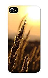 Graceyou Ultra Slim Fit Hard Specially Made For Ipod Touch 4- Landscapes Nature Flowers Wheat Plants Macro Depth Of Field