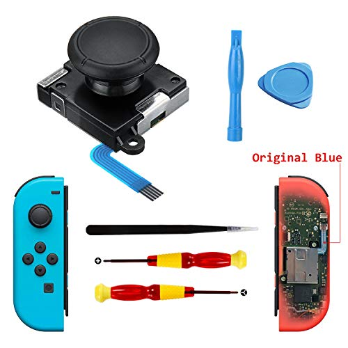 (3D Replacement Joystick Analog Thumb Sticks Joystick Thumb Sticks Replacements for Nintendo Switch Joy-con Controller - Include Thumb Sticks,Tri-Wing, Cross Screwdriver, Pry Tools )