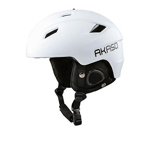 AKASO Ski Helmet - Venting, Fleece lined, Adjustable, Lightweight Snow Helmet for Unisex Adult