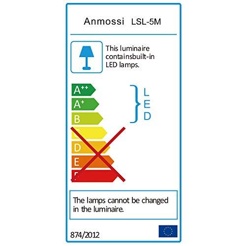 Anmossi LED Strip 5m,RGB LED Streifen mit Fernbedienung,12V Dreamcolor LED Lichtleiste,SMD 5050 LED Lichtband,für die Beleuchtung von Haus,Decke,Party, Küche