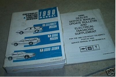 1991 Chevy Celebrity Wagon Pontiac 6000 Service Manuals (service manual and electricla diagnosis supplement)