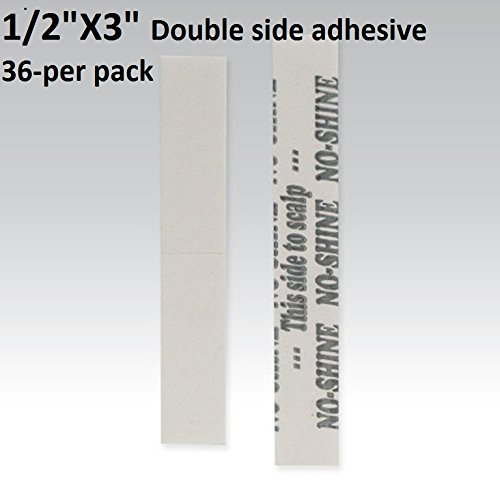 no-shine-bonding-double-sided-tape-walker-1-2-x-3-straight-strip-36-pieces-per-bag