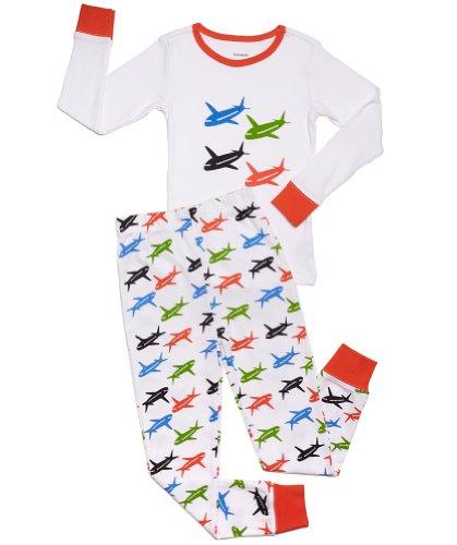 "Leveret Kids ""Airplanes"" Pajama (11-12 Years)"