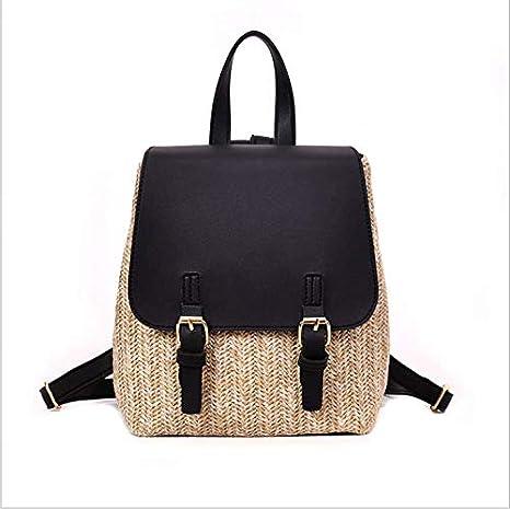 OneMoreT Mochila de paja para mujer, mochila de verano para adolescentes y niñas, mochilas de viaje de calidad, negro: Amazon.es: Instrumentos musicales