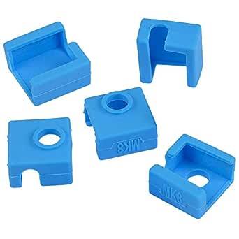 Amacoam Calcetín de Silicona para Impresora 3D MK7 MK8 MK9 Bloque ...